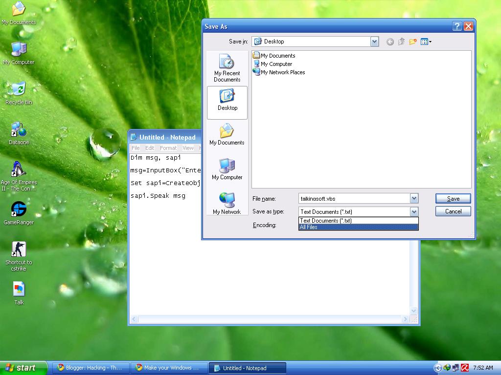 talking write away software